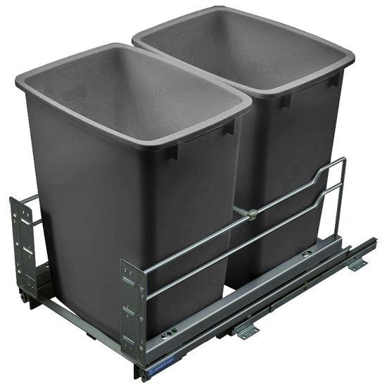 Hafele Built In Double Pull Out Bottom Mount Waste Bin
