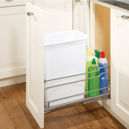 Hafele Single Built-In Pull-Out Waste Bin - 36 Quarts (9 Gallons ...