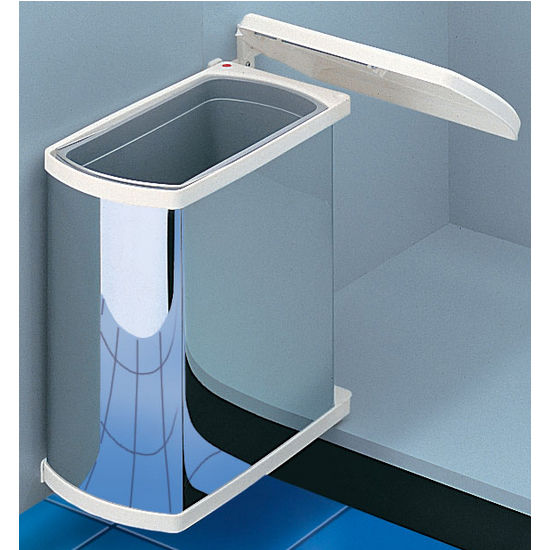 Swing-Out Waste Bin for Vanity or Kitchen Cabinet