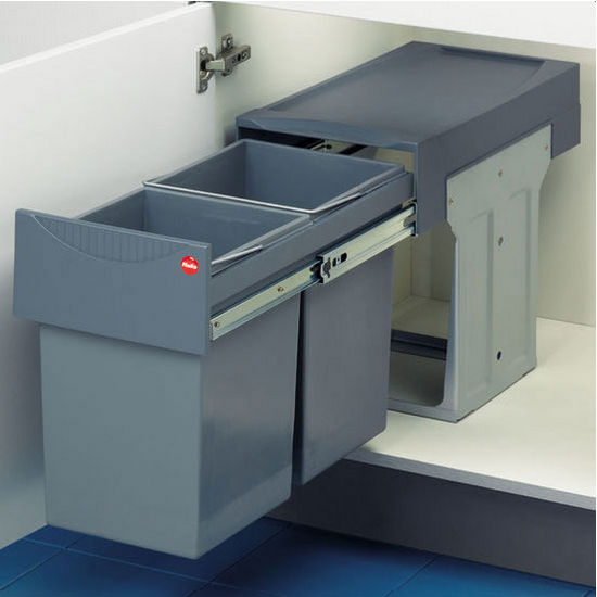 "Hafele ""Easy Cargo 30"" Pull-Out Double Waste Bins"