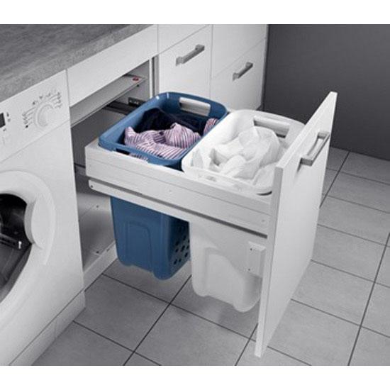 Hafele Hailo 45 60 Sidemounted Pull Out Laundry Hamper W