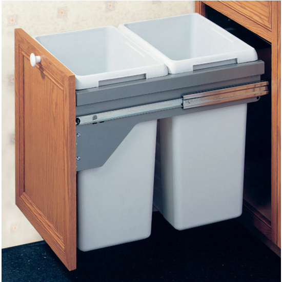 Hafele Pull Out Kitchen Cabinet Top Mounted Waste Recycling Bins