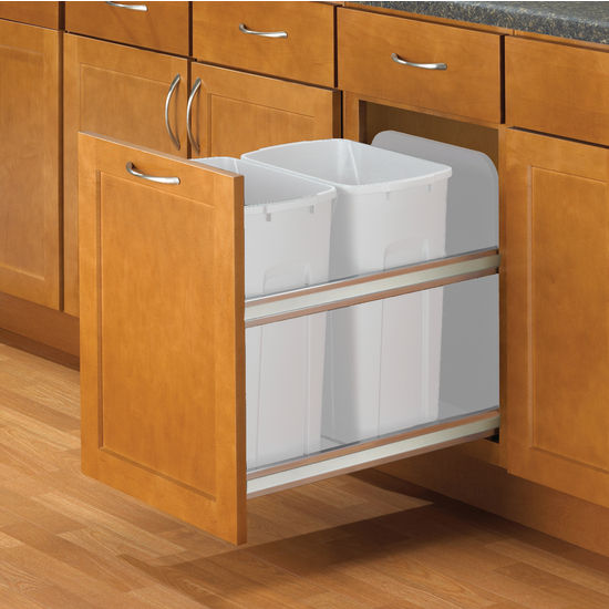 Kitchen Garbage Can Cabinet: Hafele Double Bottom Mount Soft Close Built-In Waste Bin