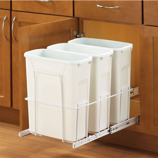 Triple Bottom Mount Soft Close Waste Bin