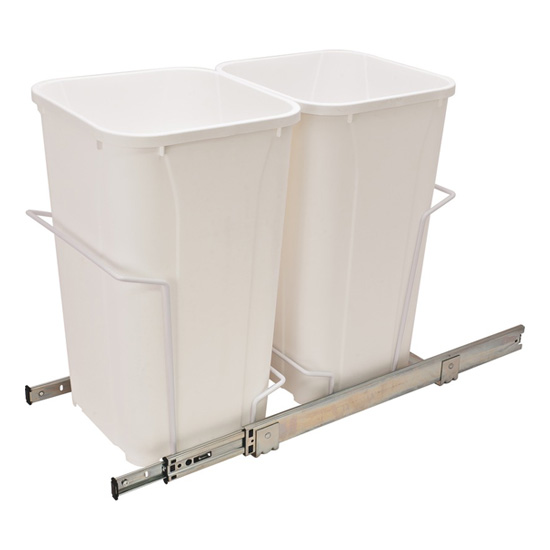 Double Bottom Mount Waste Bin