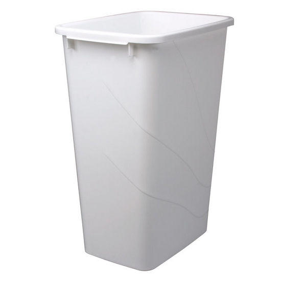 Trash cans replacement waste bins in frosted nickel or white hafele - White kitchen trash cans ...