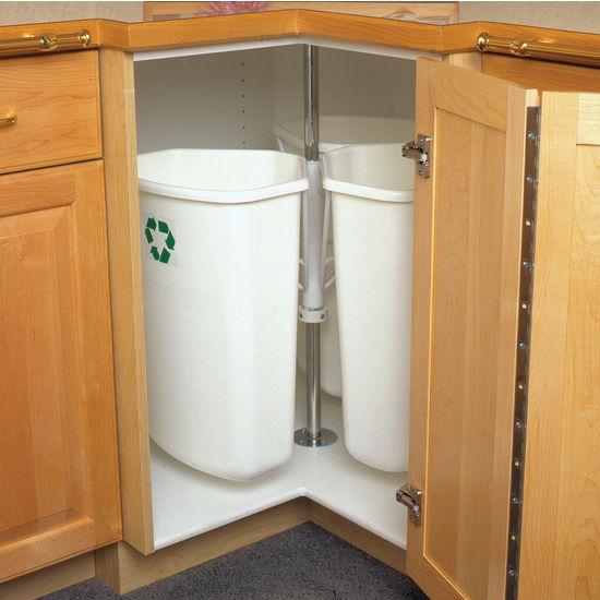 Corner Recycling Center Bin