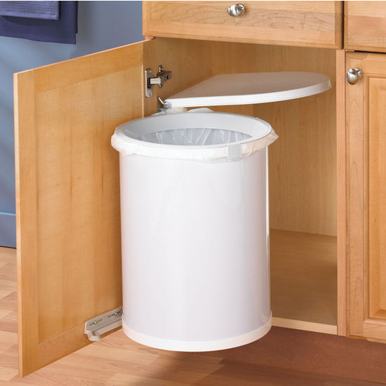 Hafele Pivot Out Built-In Waste Bin for Kitchen or Bathroom, 32 ...