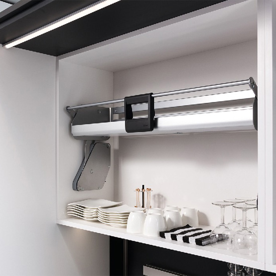 Kitchen Cabinet Pull Down Shelves: IMOVE Pull Down Unit By Hafele, Single Shelf, For 21""