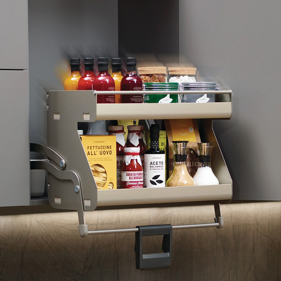 """IMOVE Double Shelf Pull Down Unit By Hafele, For 21"""""""