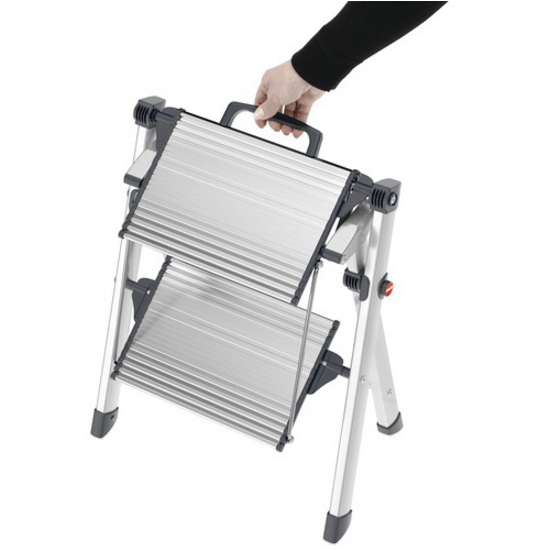 Hailo Mini Comfort Folding Step Stool By Hafele Silver