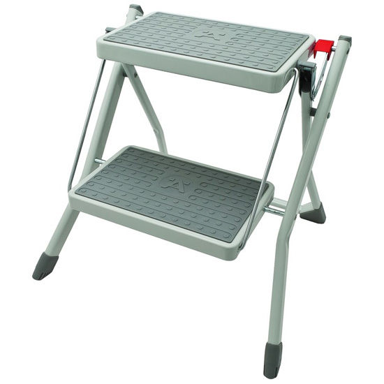 Kitchen Folding Step Stool With 2 Steps And Hanging