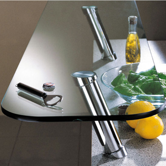 Hafele Countertop 20° Cantilever Bar Support for Glass Tops