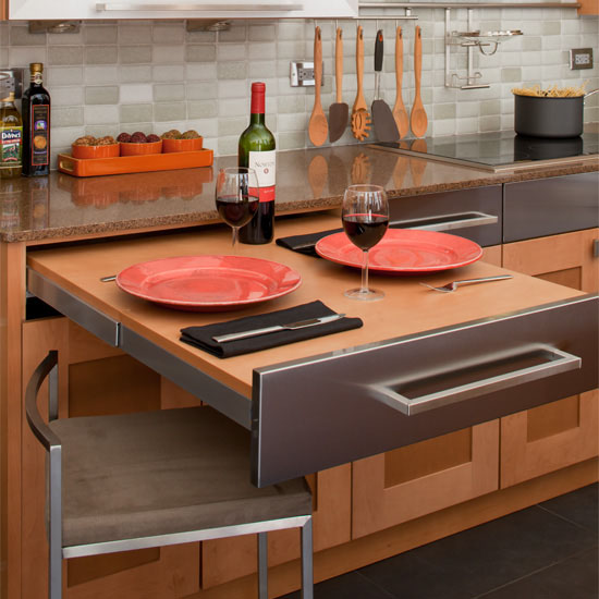 """Hafele """"Top Flex"""" Pull-Out Kitchen Table System"""