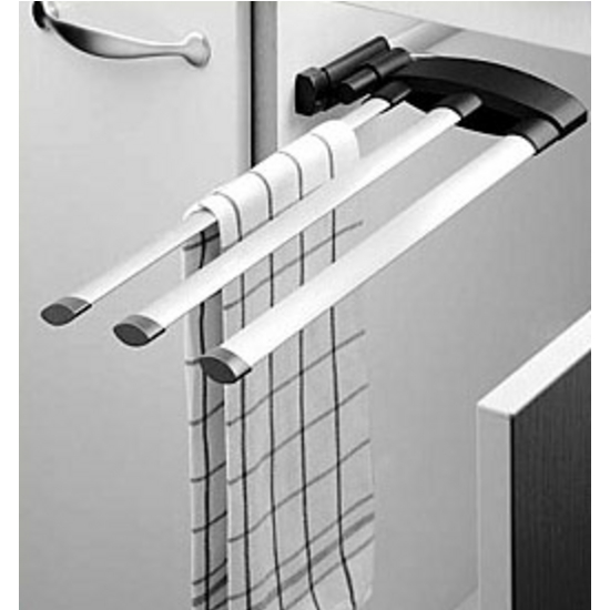 Towel Racks - Hafele 2 Bar or 3 Bar Extendable Towel Racks for ...