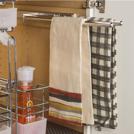 Kitchen Towel Racks For Cabinets hafele pull-out towel racks for kitchen or vanity cabinet
