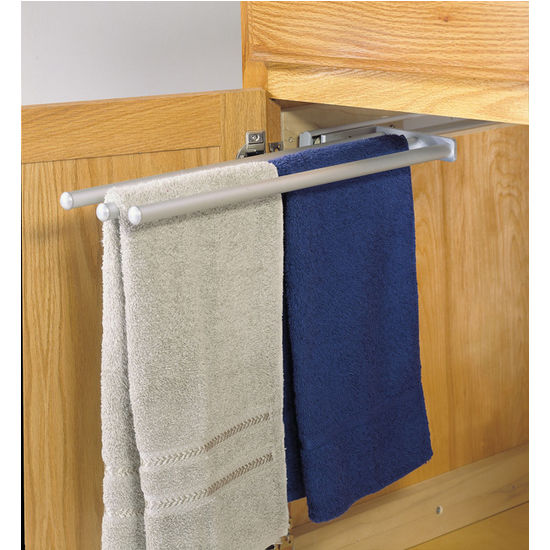 Hafele Pull-Out Towel Racks for Kitchen or Vanity Cabinet ...