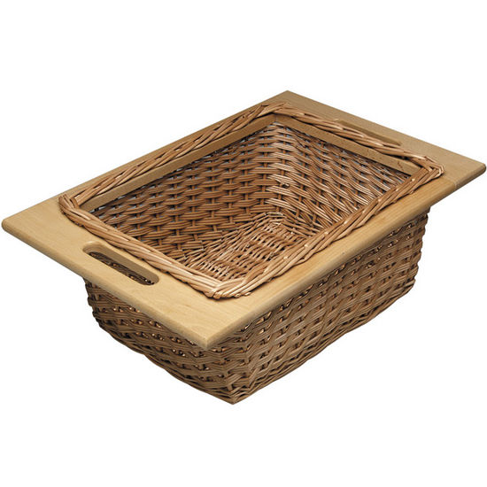 "Hafele Pull-Out Wicker Baskets For 15'' Or 18"" Framed Or"