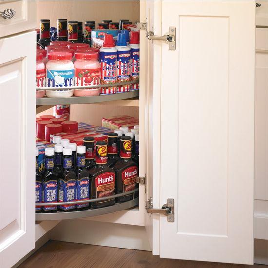Arena Plus Revolving Shelf Mounted Three-Quarter Shelf Set (2 Shelves)