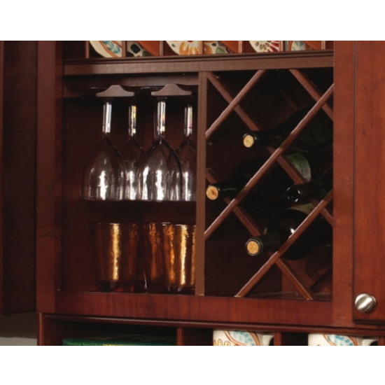 wood wine rack lattice in maple or cherry by hafele
