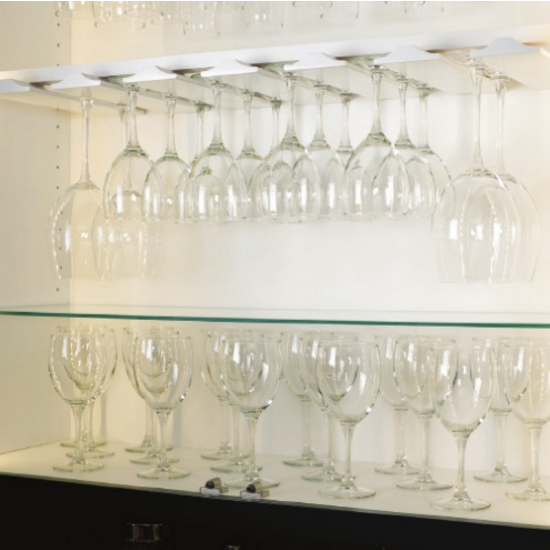 stemware rack cabinet