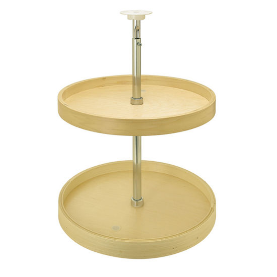 Hafele Full Round Maple Lazy Susan 2-Shelf Set with Mounting Pole ...