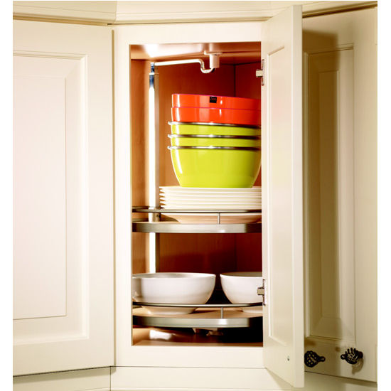 Hafele 39 39 Twister D Shaped Lazy Susan With 2 Or 3 Shelves For Upper Or Wall Corner Cabinets
