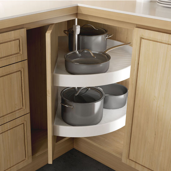 Pie Cut Shelf Set Corner System