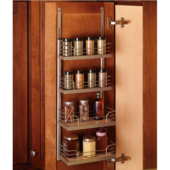 Hafele Kessebohmer Spice Rack For Mounting On Cabinet Door Or Inside On  Cabinet Side, Champagne Or Silver Finish