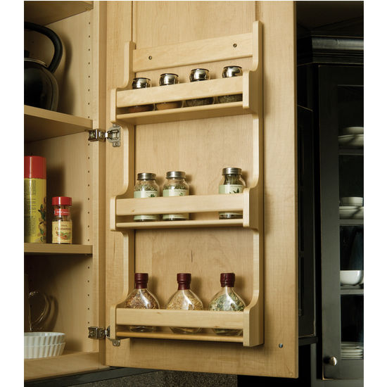Hafele Wooden Door Mount Kitchen Spice Racks