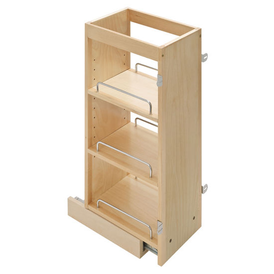 Kitchen Cabinet Pull Out Organizer: Maple Upper Wall Cabinet Pull-Out