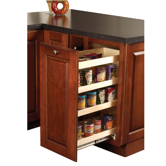 Kitchen wood base cabinet pull out organizer by hafele - Bathroom cabinet organizers pull out ...