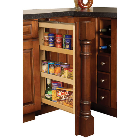 Kitchen base cabinet pull out filler organizers by hafele Bathroom cabinet organizers pull out