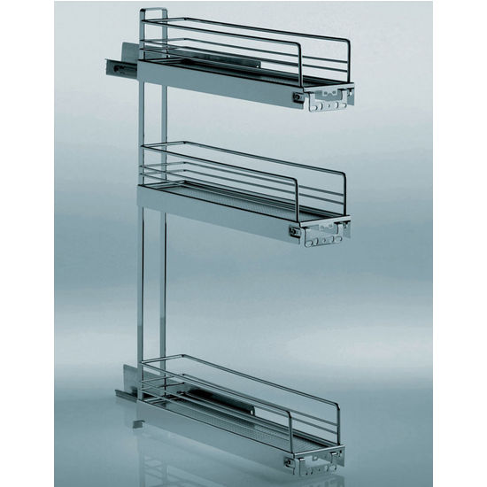 Kitchen Cabinet Pull Out Organizer: Hafele 3-Tier Kitchen Or Vanity Base Cabinet Pull-Out