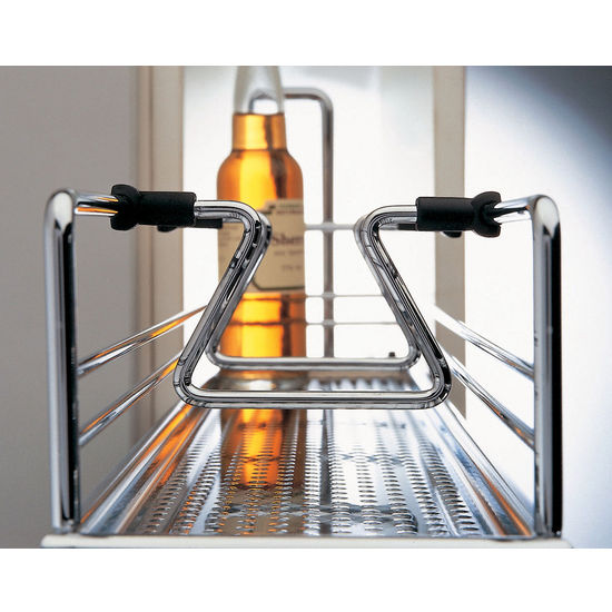 kitchen or bath 2 tier base cabinet pull out organizer w dampening