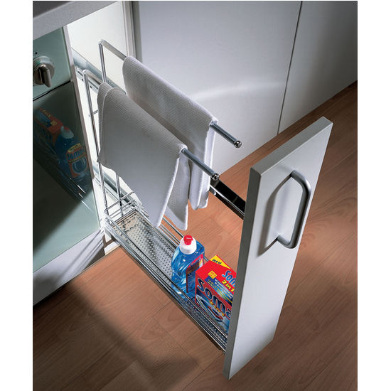 Kitchen Cabinet Accessories Pull Out: Hafele Kitchen Base Cabinet Pull-Out Organizer With Towel