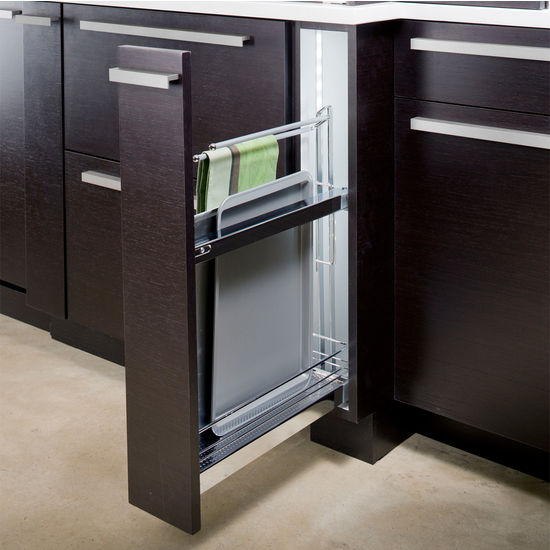 Beau Hafele Base Cabinet Pull Out For Baking Trays W/ Dampening Function |  KitchenSource.com
