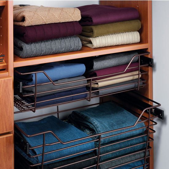 Hafele Closet Storage Baskets With Slides Sold Individually Kitchensource