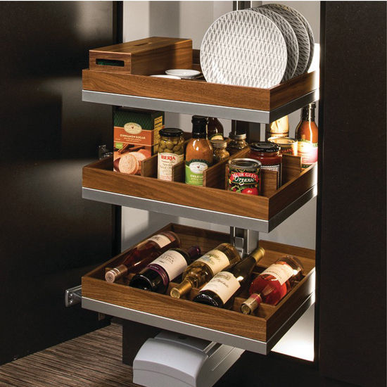 Pull Out Pantry Hardware: Hafele LAVIDO Pantry Pull-Out, Featuring Soft-Open Soft