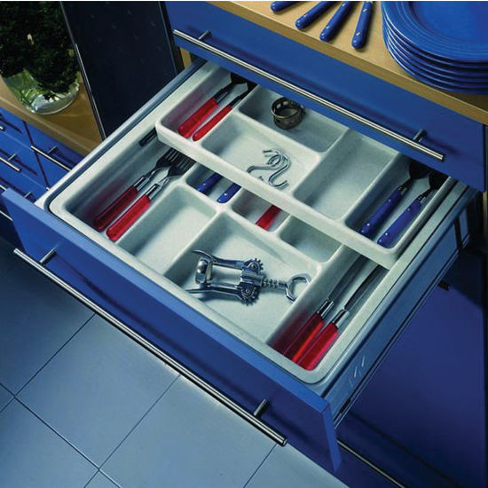 Cutlery Or Cosmetics Tray Drawer Inserts For Kitchen Or Vanity Cabinet
