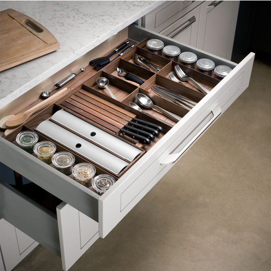 Hafele Quot Fineline Quot Cutlery Tray Amp Spice Drawer Insert