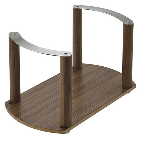 Hafele Fineline Plate Holder, Walnut Finish