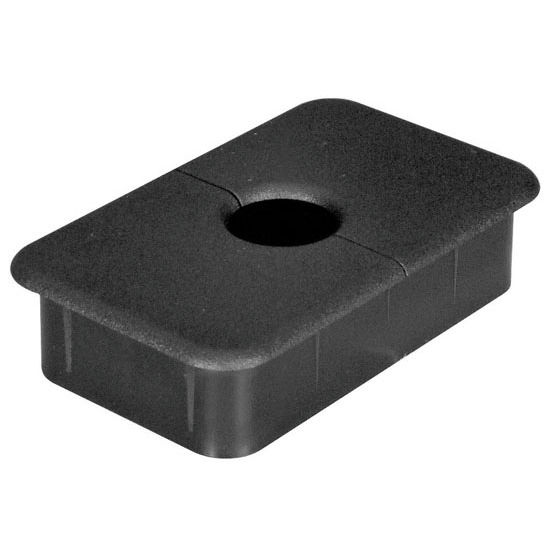 Office Accessories Rectangular Cable Grommet With Two
