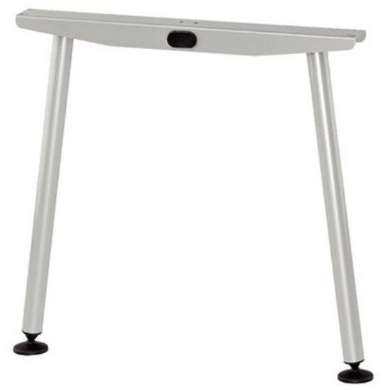 Hafele A-Flatline Leg, 735mm (28-15/16'') D - 780mm (30-11/16'') D, Silver Aluminum