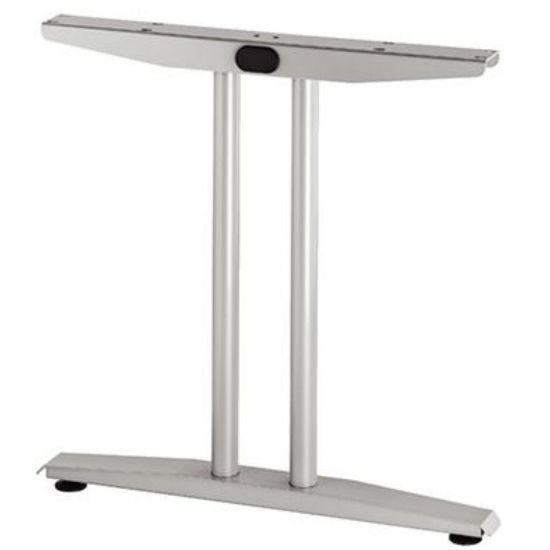 Hafele T-Flatline Leg, 714mm (28-1/8'') D, Silver Aluminum