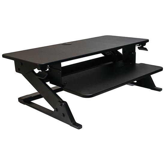Hafele Volante Desktop Sit to Stand Station, Steel, Black