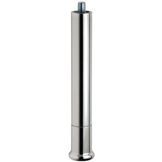 "Hafele Furniture Foot, Polished Aluminum, 182mm (7-3/16"") H"