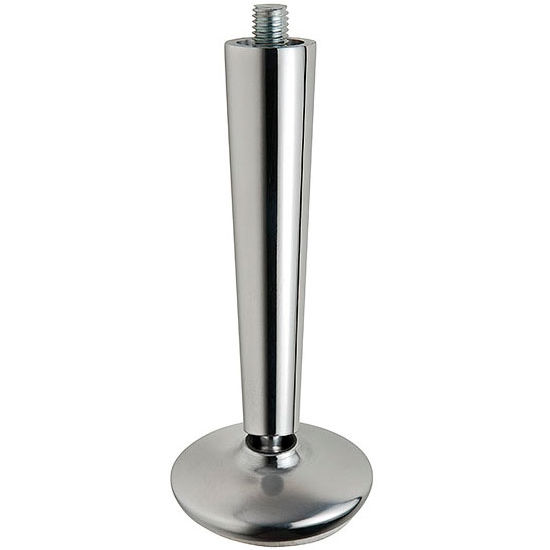 Furniture Foot With Swivel In Polished Aluminum 262mm 10 5 16 H By Hafele