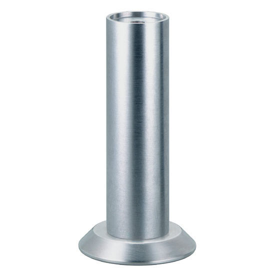 Furniture Foot With Angled Plate In Matt Aluminum 100mm 3 15 16 39 39 H By Hafele