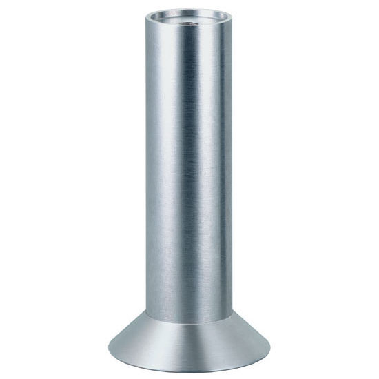 Furniture Foot With Angled Plate In Matt Aluminum 165mm 6 1 2 39 39 H By Hafele